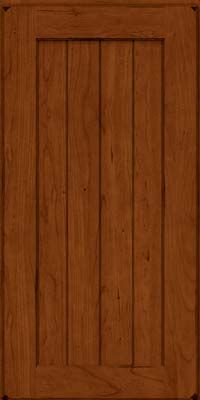 Square V - groove - Solid (AB0C) Cherry in Burnished Cinnamon - Wall