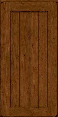 Square V - groove - Solid (AB0C) Cherry in Burnished Ginger - Wall