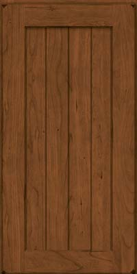 Square V - groove - Solid (AB0C) Cherry in Burnished Rye - Wall