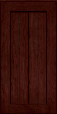 Square V - groove - Solid (AB0C) Cherry in Cabernet - Wall