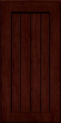 Square V - groove - Solid (AB0C) Cherry in Cabernet w/Onyx Glaze - Wall