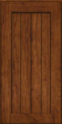 Square V - groove - Solid (AB0C) Cherry in Cognac - Wall