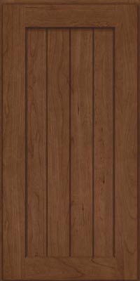 Square V - groove - Solid (AB0C1) Cherry in Hazel - Wall