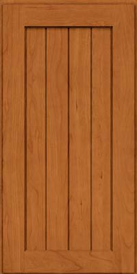 Square V - groove - Solid (AB0C) Cherry in Honey Spice - Wall