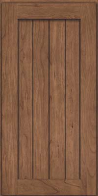 Square V - groove - Solid (AB0C) Cherry in Husk - Wall