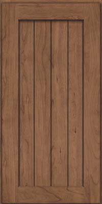 Square V - groove - Solid (AB0C) Cherry in Husk Suede - Wall