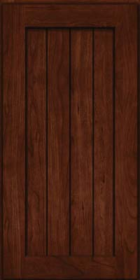 Square V - groove - Solid (AB0C) Cherry in Kaffe - Wall