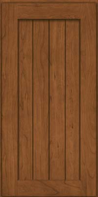 Square V - groove - Solid (AB0C) Cherry in Rye - Wall