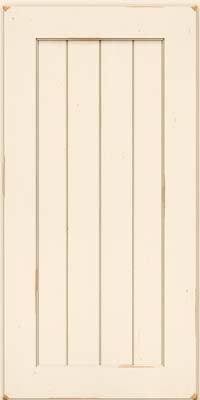 Square V - groove - Solid (AB0C) Cherry in Vintage Canvas - Wall