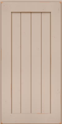 Square V - groove - Solid (AB0C1) Cherry in Vintage Chai - Wall