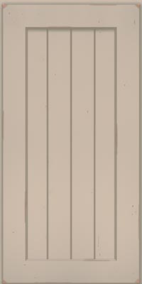 Square V - groove - Solid (AB0C1) Cherry in Vintage Chai w/Cinder Patina - Wall
