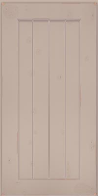 Square V - groove - Solid (AB0C1) Cherry in Vintage Chai w/Coconut Patina - Wall