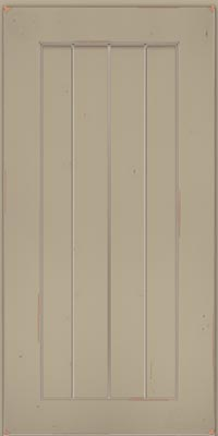 Square V - groove - Solid (AB0C1) Cherry in Vintage Willow w/Coconut Patina - Wall