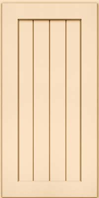 Square V - groove - Solid (AB0M) Maple in Biscotti w/Cocoa Glaze - Wall