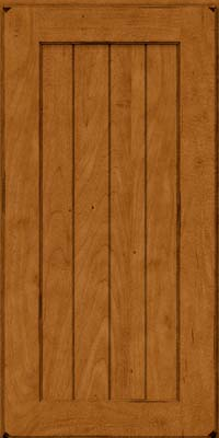 Square V - groove - Solid (AB0M) Maple in Burnished Golden Lager - Wall