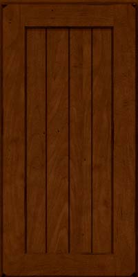 Square V - groove - Solid (AB0M) Maple in Burnished Chestnut - Wall