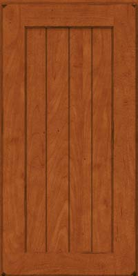 Square V - groove - Solid (AB0M) Maple in Burnished Cinnamon - Wall