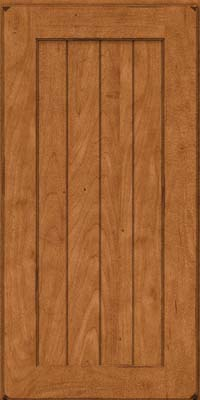 Square V - groove - Solid (AB0M) Maple in Burnished Praline - Wall