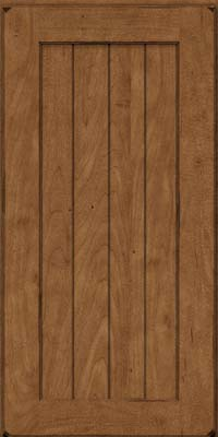 Square V - groove - Solid (AB0M) Maple in Burnished Rye - Wall