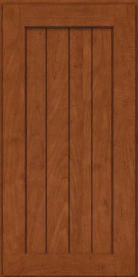 Square V - groove - Solid (AB0M) Maple in Chestnut - Wall