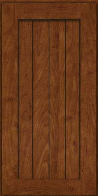 Square V - groove - Solid (AB0M) Maple in Cognac - Wall