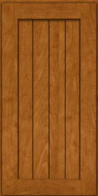 Square V - groove - Solid (AB0M) Maple in Golden Lager - Wall