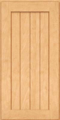 Square V - groove - Solid (AB0M) Maple in Honey Spice - Wall