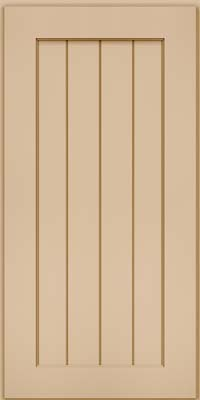 Square V - groove - Solid (AB0M) Maple in Mushroom - Wall