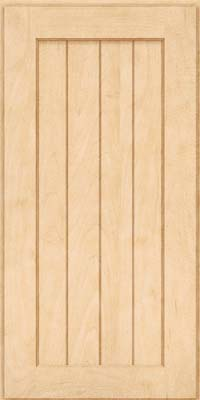 Square V - groove - Solid (AB0M) Maple in Natural - Wall