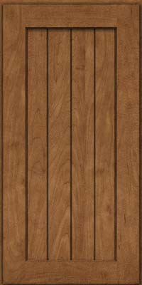 Square V - groove - Solid (AB0M) Maple in Rye - Wall