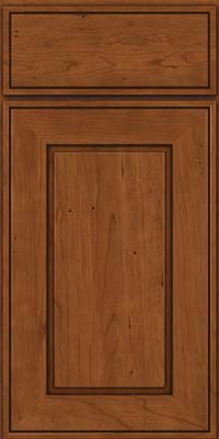 Square Raised Panel - Solid (AB1C) Cherry in Antique Chocolate w/Mocha Glaze - Base