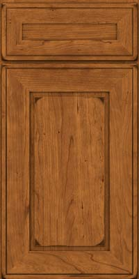 Square Raised Panel - Solid (AB1C) Cherry in Burnished Golden Lager - Base