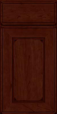 Square Raised Panel - Solid (AB1C) Cherry in Burnished Cabernet - Base