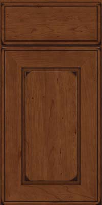 Square Raised Panel - Solid (AB1C) Cherry in Burnished Chocolate - Base