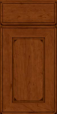 Square Raised Panel - Solid (AB1C) Cherry in Burnished Cinnamon - Base