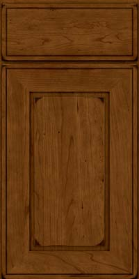 Square Raised Panel - Solid (AB1C) Cherry in Burnished Ginger - Base