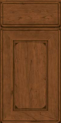 Square Raised Panel - Solid (AB1C) Cherry in Burnished Rye - Base