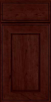 Square Raised Panel - Solid (AB1C) Cherry in Cabernet - Base