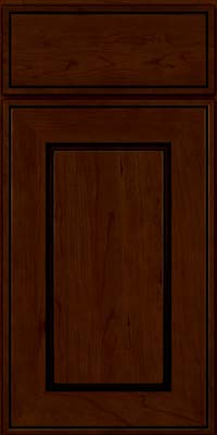 Square Raised Panel - Solid (AB1C) Cherry in Chocolate w/Ebony Glaze - Base