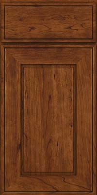 Square Raised Panel - Solid (AB1C) Cherry in Cognac - Base