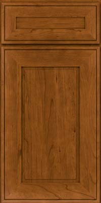 Square Raised Panel - Solid (AB1C) Cherry in Golden Lager - Base