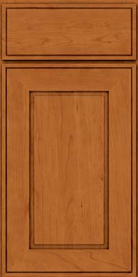 Square Raised Panel - Solid (AB1C) Cherry in Honey Spice - Base