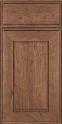 Square Raised Panel - Solid (AB1C) Cherry in Husk - Base