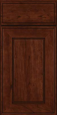 Square Raised Panel - Solid (AB1C) Cherry in Kaffe - Base