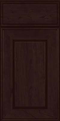 Square Raised Panel - Solid (AB1C) Cherry in Peppercorn - Base