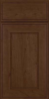 Square Raised Panel - Solid (AB1C) Cherry in Saddle Suede - Base
