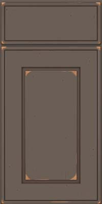 Square Raised Panel - Solid (AB1C) Cherry in Vintage Greyloft w/ Sable Patina - Base