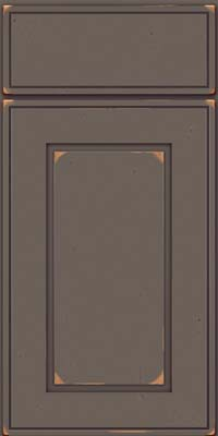 Square Raised Panel - Solid (AB1C) Cherry in Vintage Greyloft - Base