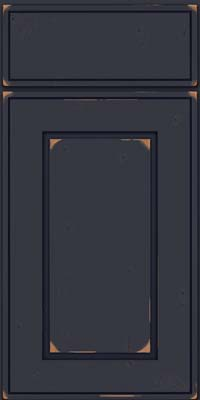 Square Raised Panel - Solid (AB1C) Cherry in Vintage Midnight w/ Onyx Patina - Base