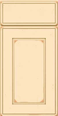 Square Raised Panel - Solid (AB1C) Cherry in Vintage Biscotti - Base